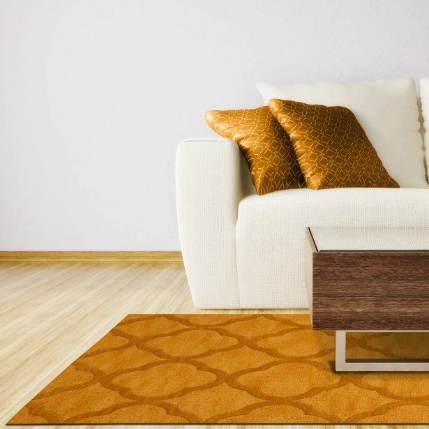 Dover Butterscotch Area Rug Rug Size: Oval 12' x 18'