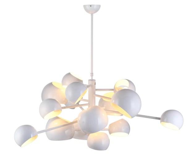 Arvika 14-Light Sputnik Chandelier Finish: White