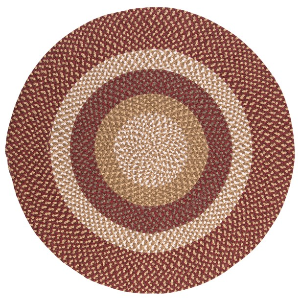 Fabric Multi Red Area Rug Rug Size: Round 10'