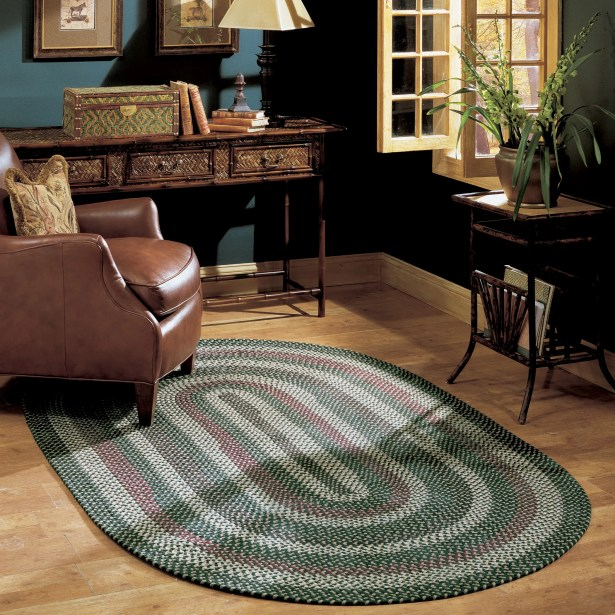 Brook Farm Winter Greens Indoor/Outdoor Area Rug Rug Size: Oval 3' x 5'