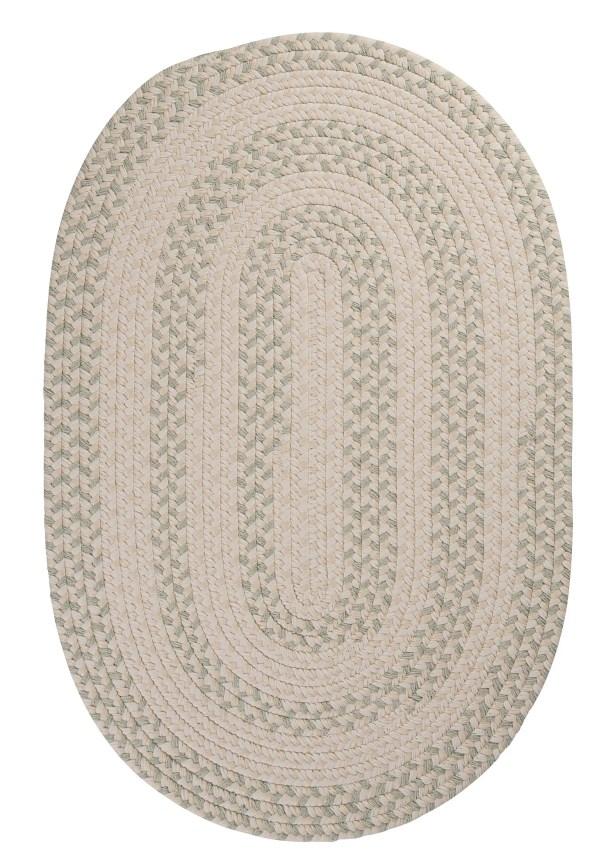 Elmwood Tarragon Braided Area Rug Rug Size: Round 12'