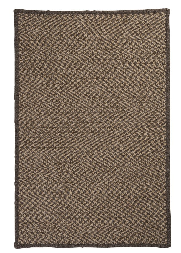 Natural Wool Houndstooth Braided Caramel Area Rug Rug Size: Rectangle 2' x 3'