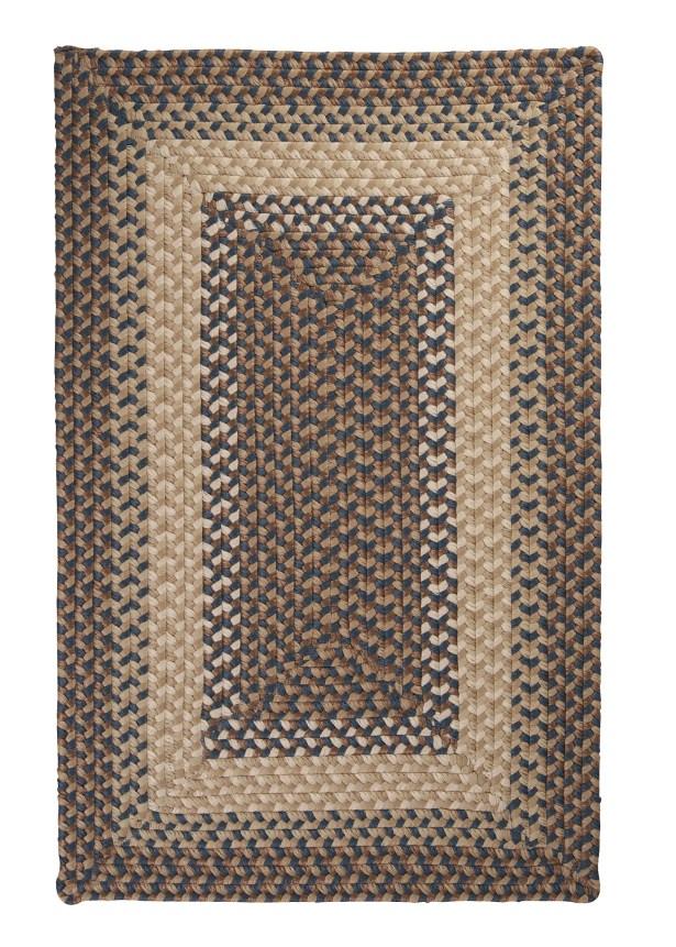 Tiburon Stone & Blue Braided Indoor/Outdoor Area Rug Rug Size: Rectangle 10' x 13'