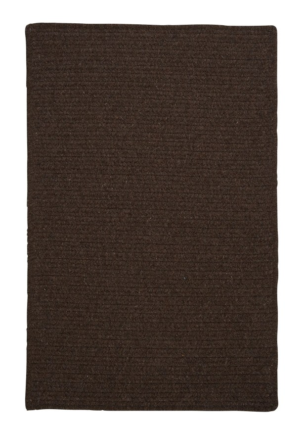 Courtyard Cocoa Rug Fringe: Not Included, Rug Size: Rectangle 4' x 6'