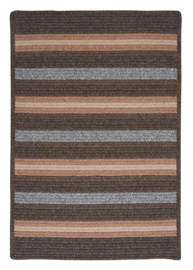 Salisbury Brown Striped Area Rug Rug Size: Rectangle 2' x 4'