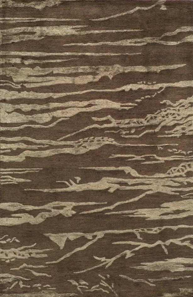 Waco Hand Tufted Wool Brown Area Rug Rug Size: Rectangle 8' x 11'