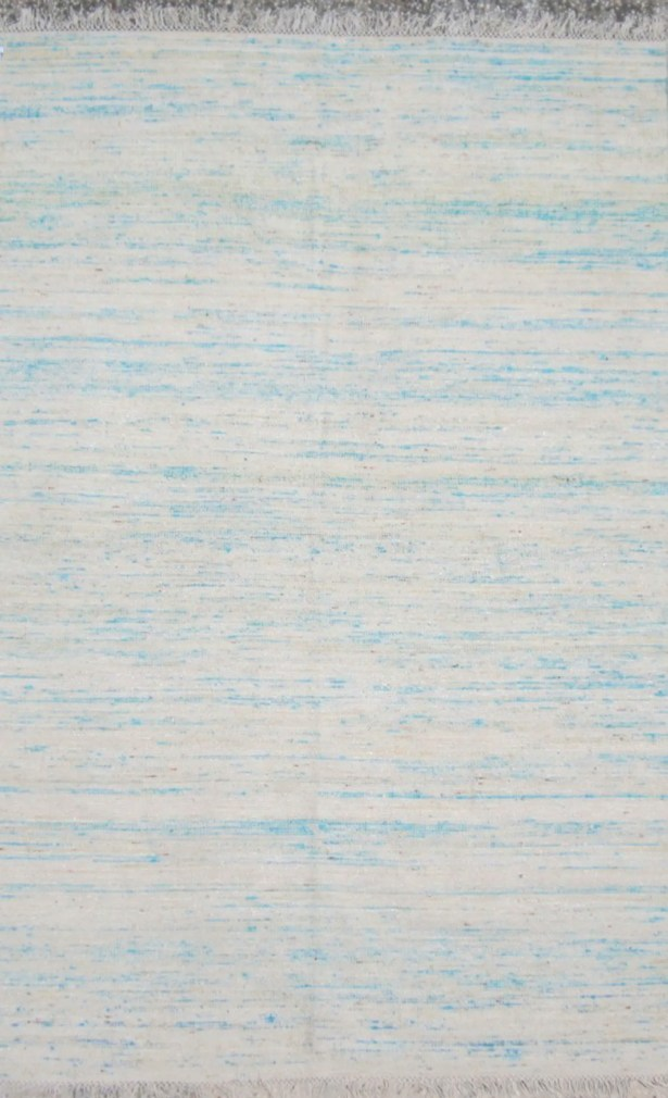 Duquette Bright Blue Area Rug Rug Size: Rectangle 6' x 9'