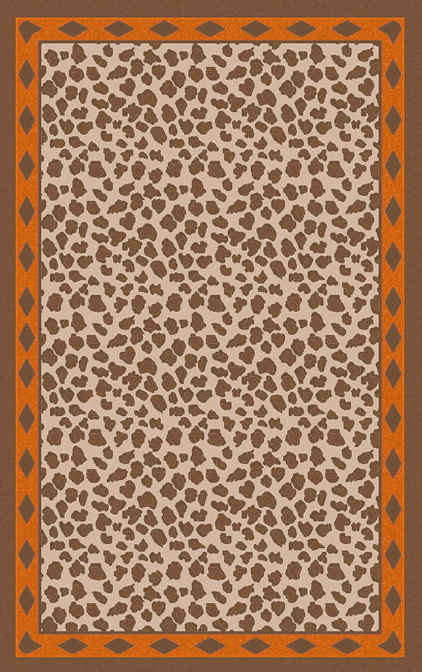 Marigold Animal Print Burnt Orange/Brrown Area Rug Rug Size: Rectangle 5' x 8'