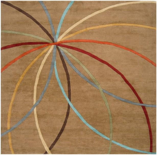 Dewald Mocha Area Rug Rug Size: Square 4'