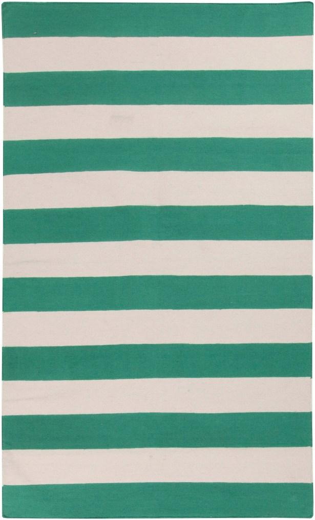 Kramer Emerald Green & Ivory Area Rug Rug Size: Rectangle 8' x 11'