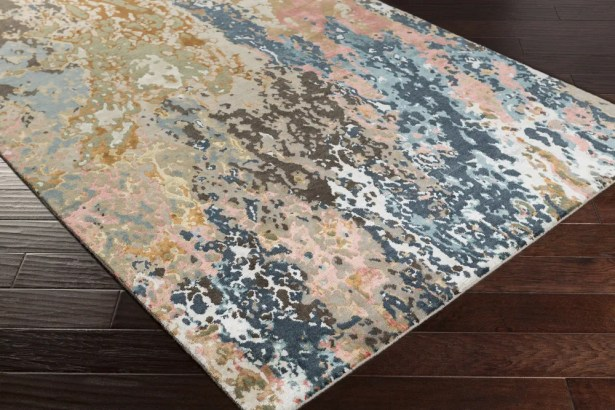 Bovill Knotted Blue/Brown Area Rug Rug Size: Rectangle 4' x 6'