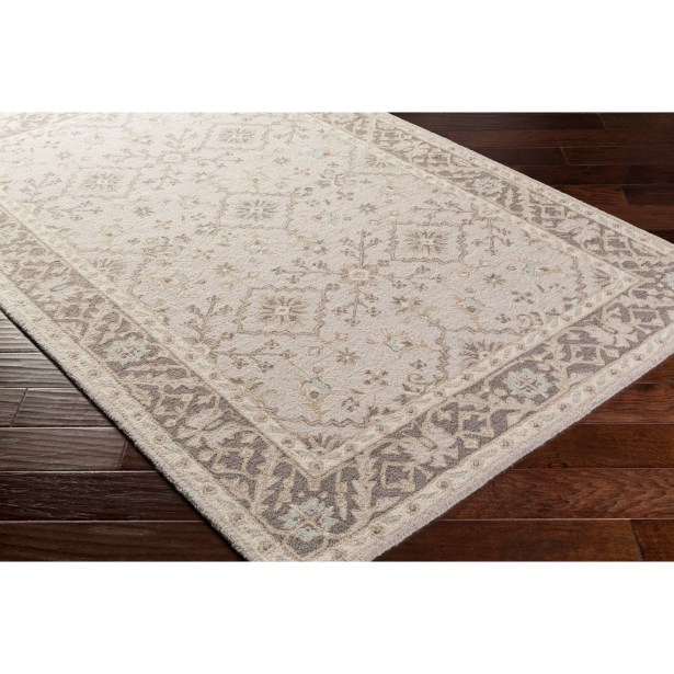 Pottershill Hand-Tufted Beige/Charcoal Area Rug Rug Size: Rectangle 4' x 6'