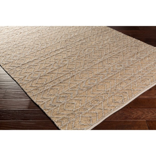 Between Hand-Woven Beige Area Rug Rug Size: Rectangle 6' x 9'