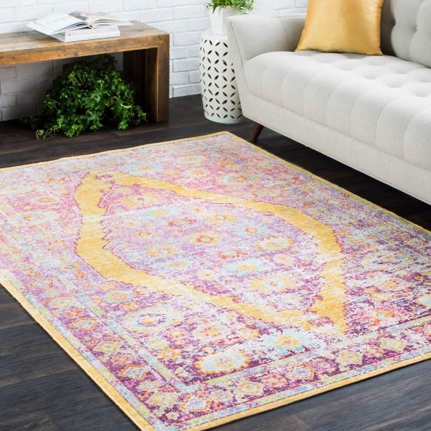 Kahina Traditional Vintage Distressed Oriental Rectangle Neutral Pink/Orange Area Rug Rug Size: Rectangle 5'3