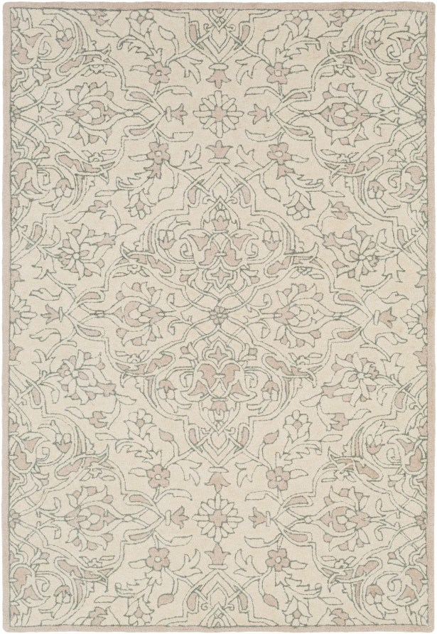 Argent Floral Hand Hooked Wool Beige Area Rug Rug Size: Rectangle 5' x 7'6