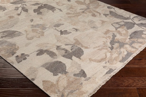 Darrin Transitional Floral Hand Knotted Wool Camel Area Rug Rug Size: 6' x 9'