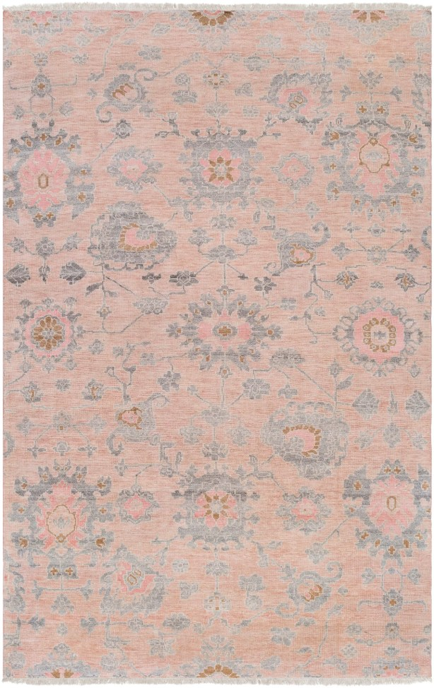 Casco Floral Hand Knotted Beige/Pale Pink Area Rug Rug Size: Rectangle 2' x 3'