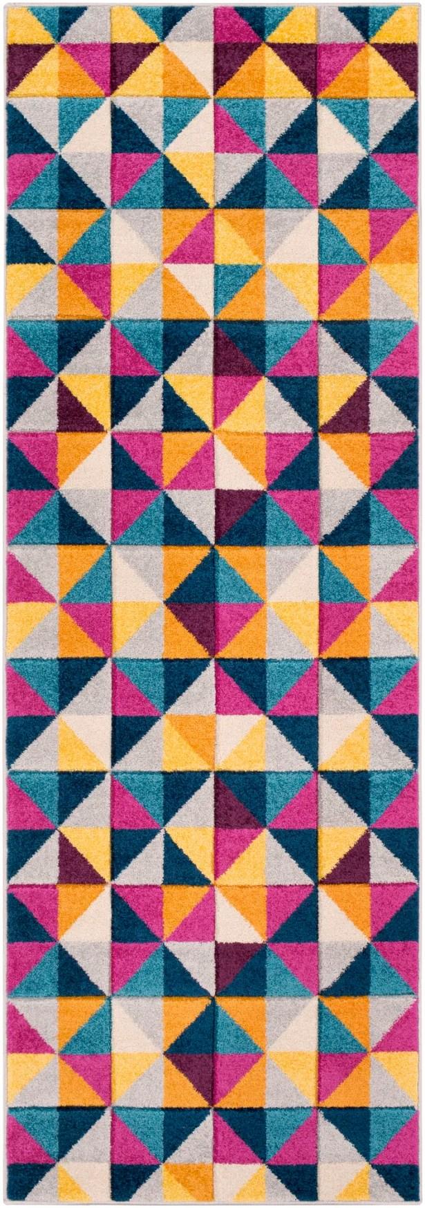Puleo Geometric Gray/Blue Area Rug Rug Size: Rectangle 5'3