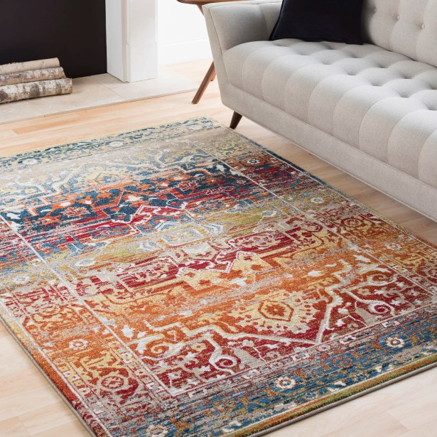 Ridgecrest Overdyed Distressed Dark Red/Tan Area Rug Rug Size: Rectangle 6'7