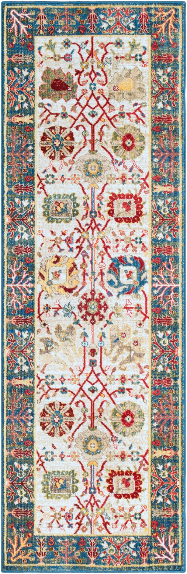 Napa Navy/White Floral Area Rug Rug Size: 5'1