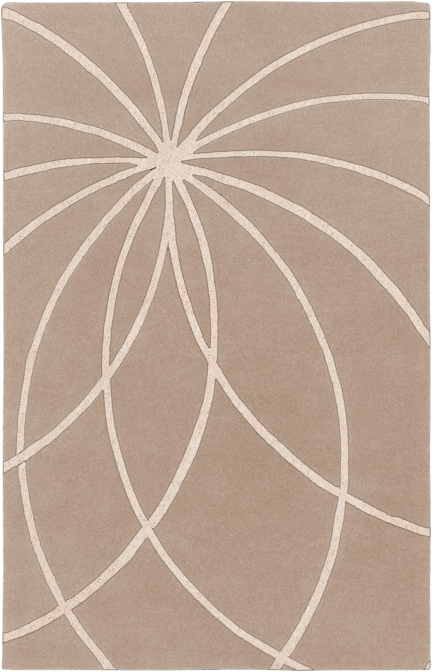 Carnahan Hand-Tufted Wool Khaki/Cream Area Rug Rug Size: Rectangle 10' x 14'