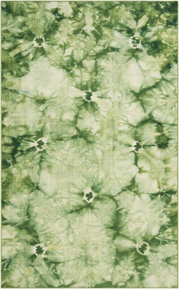 Mahoney Green Area Rug Rug Size: Rectangle 5' x 8'