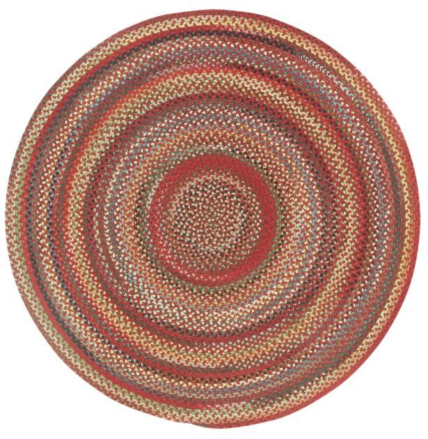 Burdock Red Variegated Area Rug Rug Size: Round 8'6