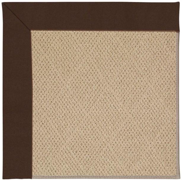 Lisle Machine Tufted Brown/Beige Indoor/Outdoor Area Rug Rug Size: Square 4'
