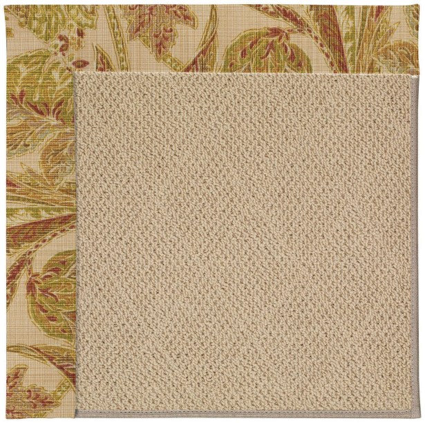 Lisle Machine Tufted Tan Indoor/Outdoor Area Rug Rug Size: Square 4'