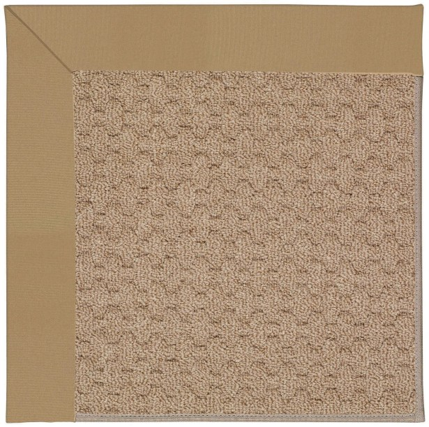 Lisle Machine Tufted Light Gold and Beige Indoor/Outdoor Area Rug Rug Size: Rectangle 9' x 12'