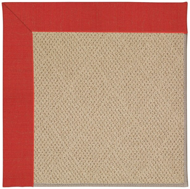 Lisle Machine Tufted Red Crimson/Brown Indoor/Outdoor Area Rug Rug Size: Square 10'