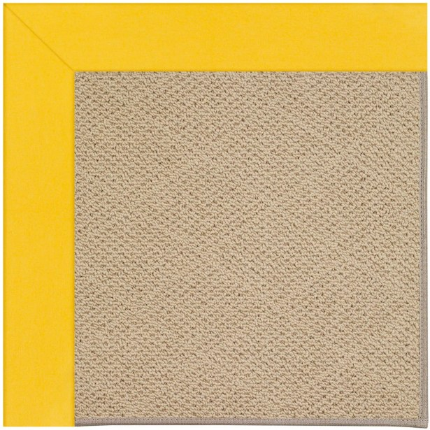 Lisle Machine Tufted Summertime Yellow Indoor/Outdoor Area Rug Rug Size: Square 8'