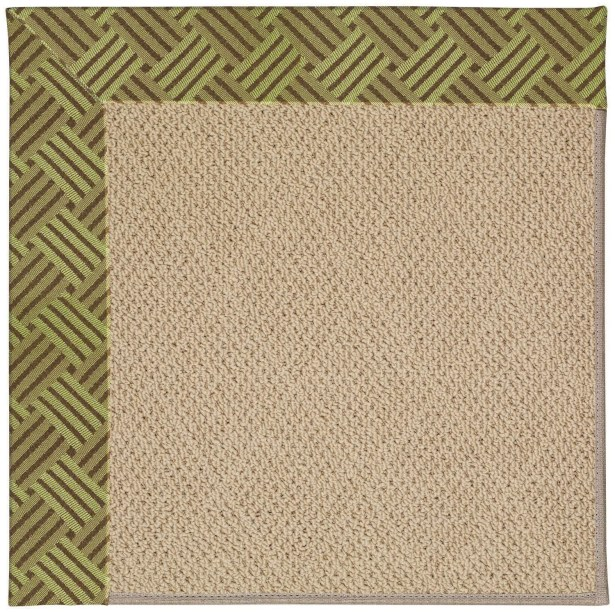Lisle Machine Tufted Mossy Green/Brown Indoor/Outdoor Area Rug Rug Size: Rectangle 12' x 15'