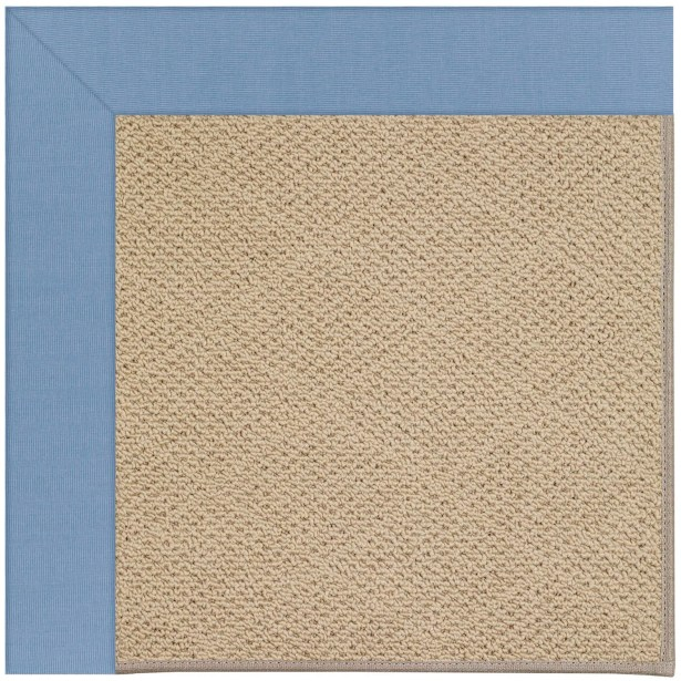 Lisle Machine Woven Blue/Beige Indoor/Outdoor Area Rug Rug Size: Square 10'