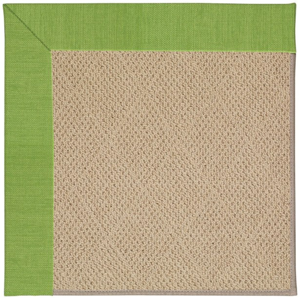 Lisle Machine Tufted Grass/Brown Indoor/Outdoor Area Rug Rug Size: Square 4'