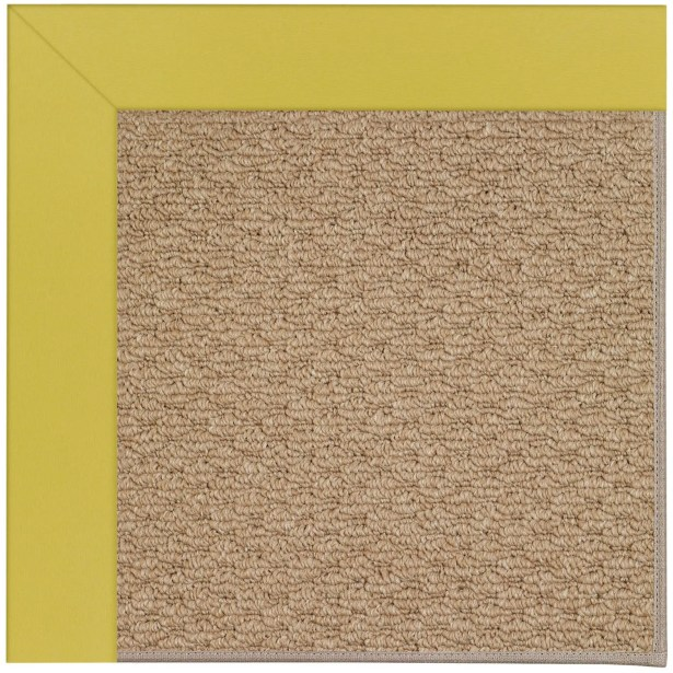 Lisle Machine Tufted Yellow/Brown Indoor/Outdoor Area Rug Rug Size: Rectangle 5' x 8'