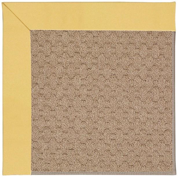 Lisle Machine Tufted Lemon/Brown Indoor/Outdoor Area Rug Rug Size: Square 8'