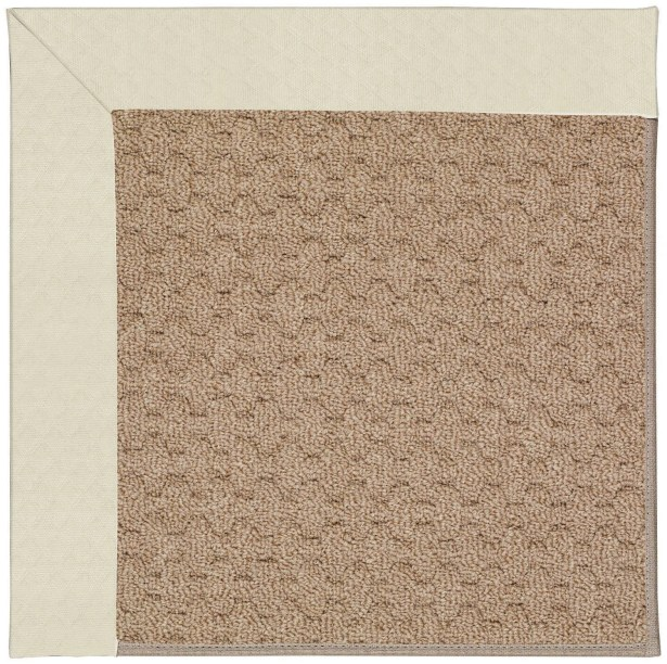 Lisle Machine Tufted Cream/Brown Indoor/Outdoor Area Rug Rug Size: Rectangle 3' x 5'