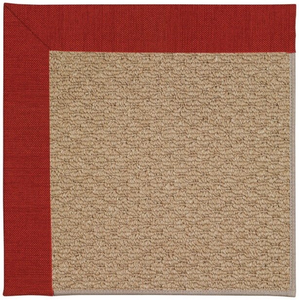 Lisle Machine Tufted Tomatoes/Brown Indoor/Outdoor Area Rug Rug Size: Rectangle 8' x 10'