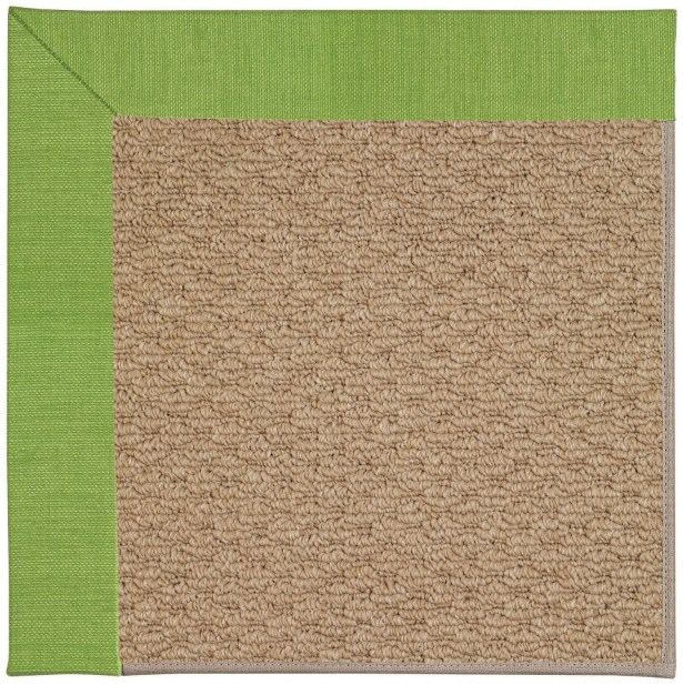Lisle Machine Tufted Grass/Brown Indoor/Outdoor Area Rug Rug Size: Square 6'