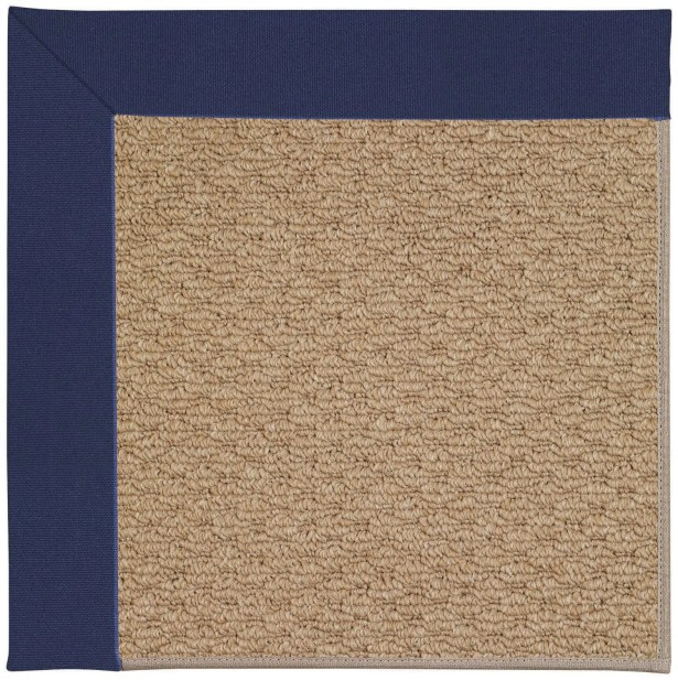 Lisle Machine Tufted Navy and Beige Indoor/Outdoor Area Rug Rug Size: Rectangle 4' x 6'
