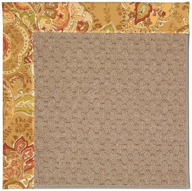 Lisle Machine Tufted Bronze Flowers and Beige Indoor/Outdoor Area Rug Rug Size: Rectangle 8' x 10'