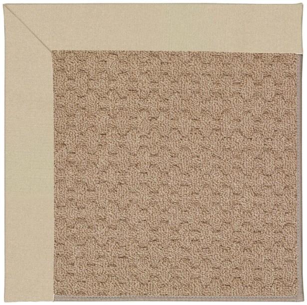 Lisle Machine Tufted Ecru/Brown Indoor/Outdoor Area Rug Rug Size: Round 12' x 12'