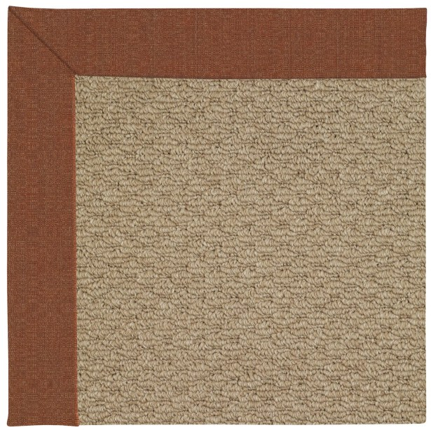 Lisle Machine Tufted Dried Brown Indoor/Outdoor Area Rug Rug Size: Square 6'