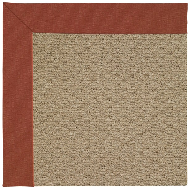 Lisle Machine Tufted Red/Brown Indoor/Outdoor Area Rug Rug Size: Rectangle 8' x 10'