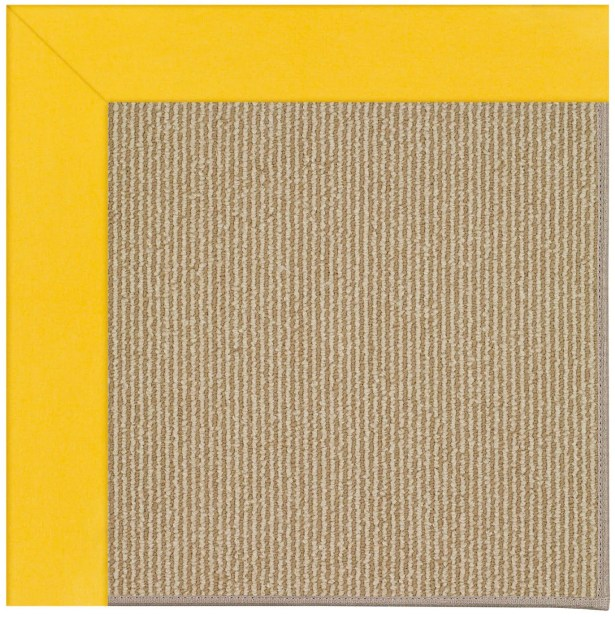 Lisle Machine Tufted Summertime Yellow/Brown Indoor/Outdoor Area Rug Rug Size: Square 10'