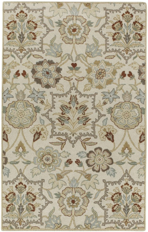 Garden Terrace Ocean White Blooms/Geometric Area Rug Rug Size: Rectangle 5' x 8'