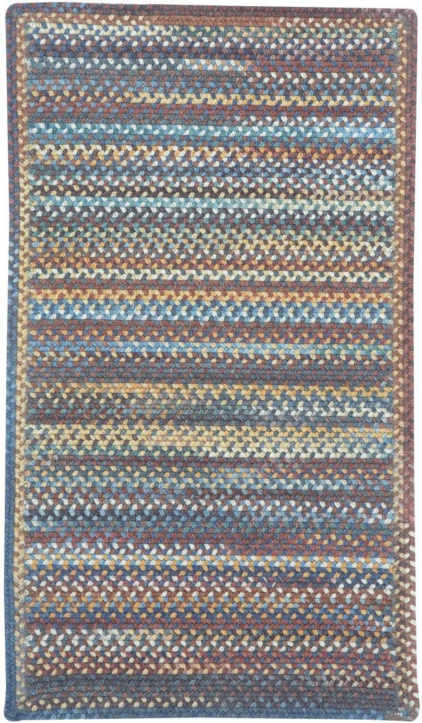 Phoebe Medium Blue Multi Rug Rug Size: Cross Sewn Square 7'6