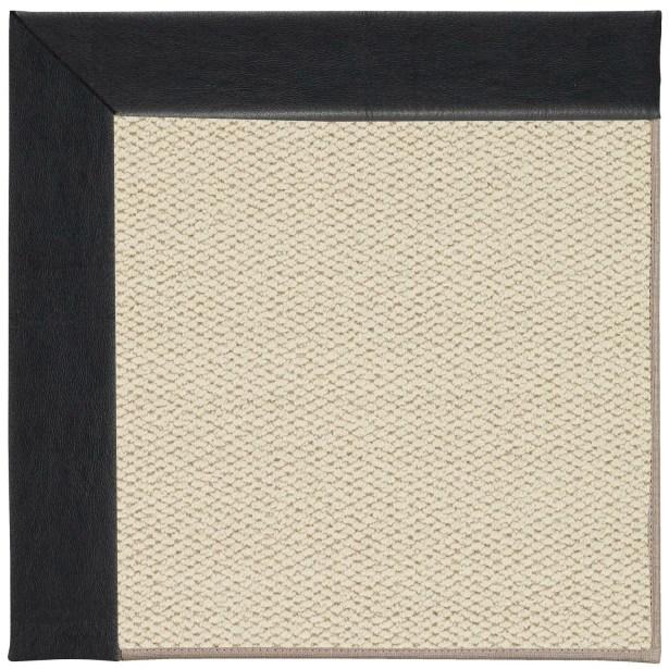 Barrett Linen Machine Tufted Onyx/Beige Area Rug Rug Size: Square 6'