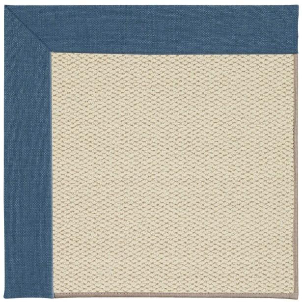 Barrett Linen Machine Tufted Caribbean/Brown Area Rug Rug Size: Rectangle 9' x 12'